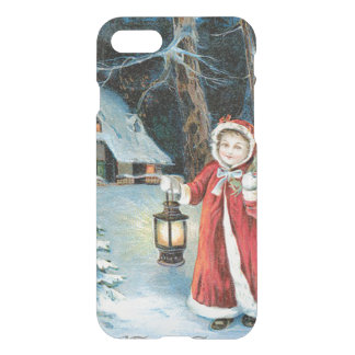 Cute Girl Lantern Holly Winter Cottage iPhone 7 Case