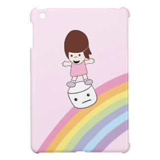 Cute Girl on Rainbow w Marshmallow iPad Mini Case