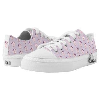 Cute Girl Pig Low-Top Sneakers