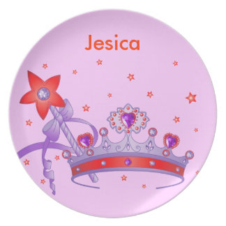 Cute girl princess crown Plate