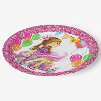 Cute Girl Princess Party Goods Paper Plate