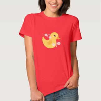 Cute Girl Rubber Ducky Baby Shower Tee Shirt