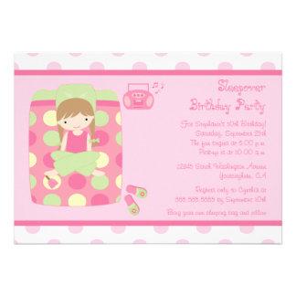 Cute girl s sleepover birthday party invitation