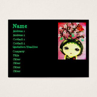 Cute Girl - She Grows A Tree Business Card