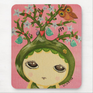 Cute Girl - She Grows A Tree Mouse Pad