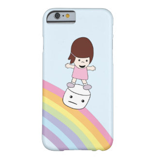 Cute Girl w Rainbow & Marshmallow iPhone 6/6s Case