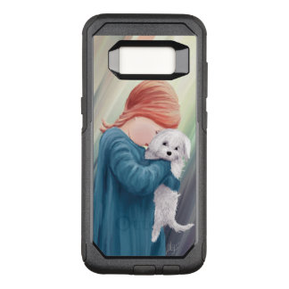Cute Girl with White Dog OtterBox Commuter Samsung Galaxy S8 Case