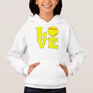 Cute Girls Fastpitch Softball Love Sweatshirt