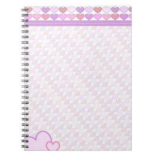 Cute Girls Pastel Hearts Note Book