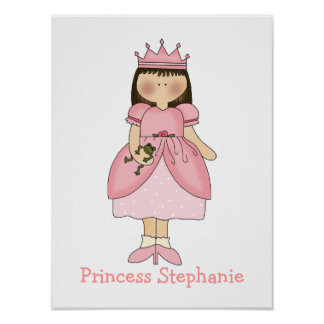 Cute Girl's Princess Print