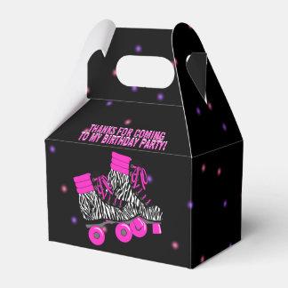 Cute Girl's Roller Skate Birthday Party Favor Box