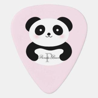 Cute Girly Baby Panda Bear Add Your Name Monogram Guitar Pick