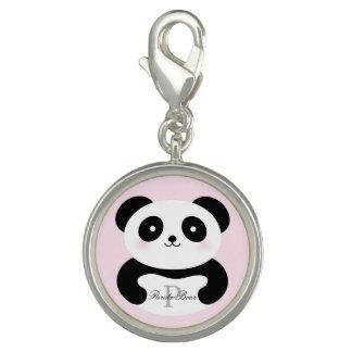 Cute Girly Baby Panda Bear Monogram Charm