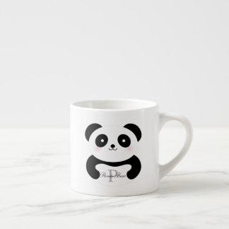 Cute Girly Baby Panda Bear Monogram Espresso Cup