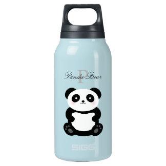 Cute Girly Baby Panda Bear Monogram Insulated Water Bottle