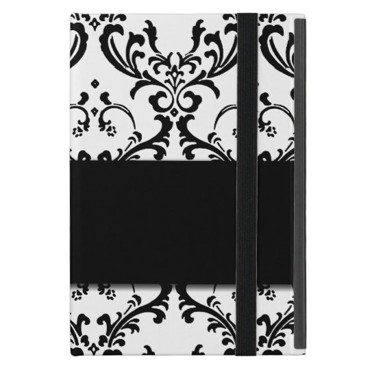 Cute Girly Black Damask Pattern Cases For iPad Mini