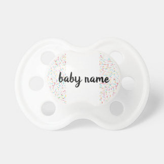 Cute Girly Bling Glitter Pattern Personalized Name Pacifier
