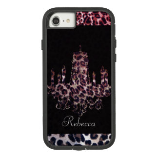 Cute girly chic leopard print chandelier Case-Mate tough extreme iPhone 8/7 case