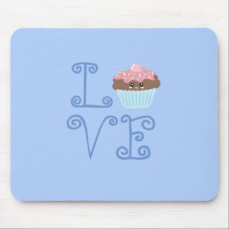 Cute Girly Colorful Kawaii Sweet Love Cupcake Mouse Pad
