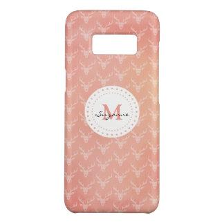 Cute Girly Deer Pattern Monogrammed Case-Mate Samsung Galaxy S8 Case