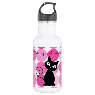 Cute Girly Elegant Pink Polka Dots 532 Ml Water Bottle