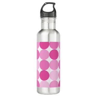Cute Girly Elegant Pink Polka Dots 710 Ml Water Bottle