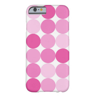 Cute Girly Elegant Pink Polka Dots Barely There iPhone 6 Case