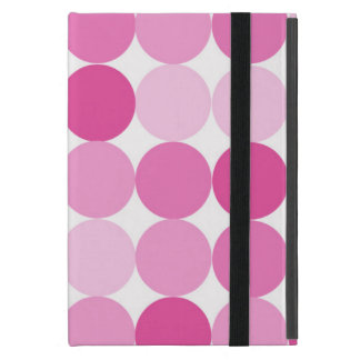 Cute Girly Elegant Pink Polka Dots Cover For iPad Mini