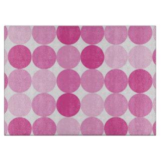 Cute Girly Elegant Pink Polka Dots Cutting Board