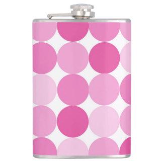 Cute Girly Elegant Pink Polka Dots Flasks