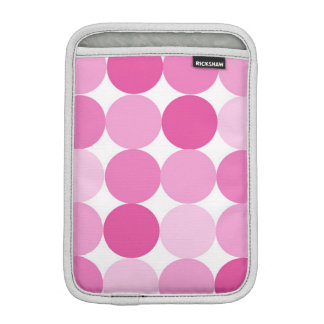 Cute Girly Elegant Pink Polka Dots iPad Mini Sleeve