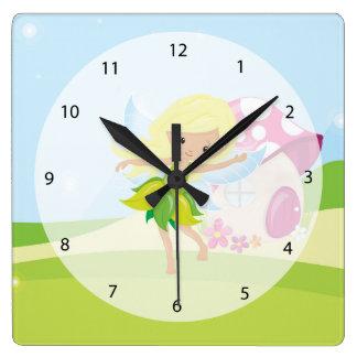 Cute girly fairy wall clocks