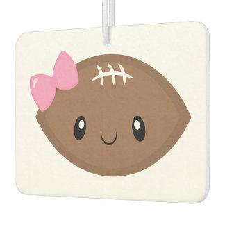 Cute Girly Football Emoji Car Air Freshener
