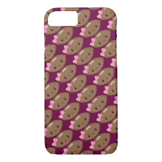 Cute Girly Football Emoji iPhone 8/7 Case