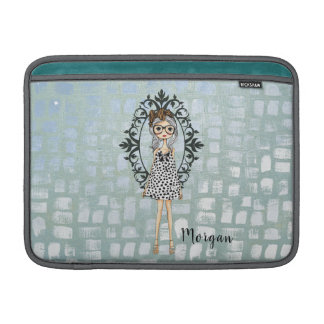 Cute Girly Geeky Hipster Macbook Air Sleeve