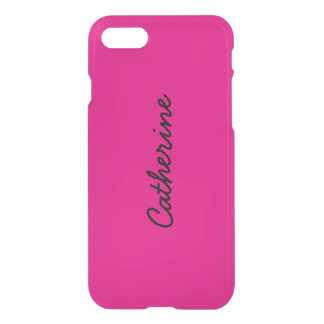 Cute Girly Hot Pink Personalized Name Monogrammed iPhone 7 Case