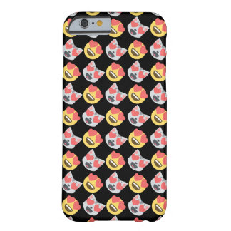 Cute Girly In Love Hearts Cat Emoji Pattern Barely There iPhone 6 Case