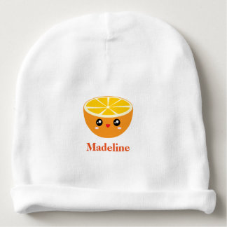 Cute Girly Kawaii Happy Sweet Orange Cartoon Girl Baby Beanie