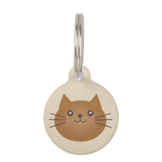Cute Girly Kawaii Kitty Cat Lover Whimsical Pet Tag