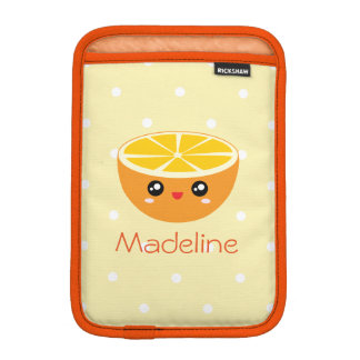 Cute Girly Kawaii Orange You Glad To See Me Sweet iPad Mini Sleeve