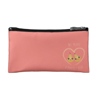 Cute Girly Kawaii We Make A Perfect Pear Pun Humor Makeup Bag