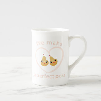 Cute Girly Kawaii We Make A Perfect Pear Pun Humor Tea Cup