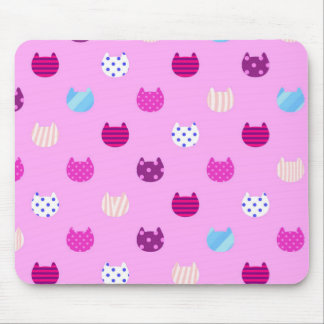 Cute Girly Kitty Cat Mouse Pad