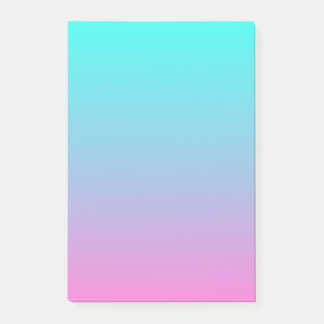 cute girly ombre mermaid pink Fuchsia turquoise Post-it Notes