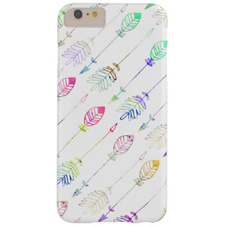 Cute girly pastel watercolor arrows patterns barely there iPhone 6 plus case