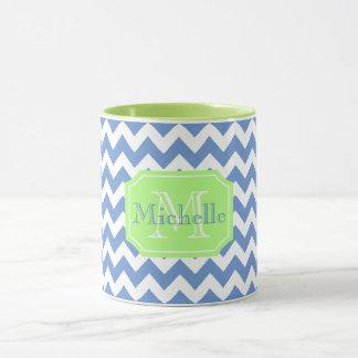 Cute girly personalized chevron mug