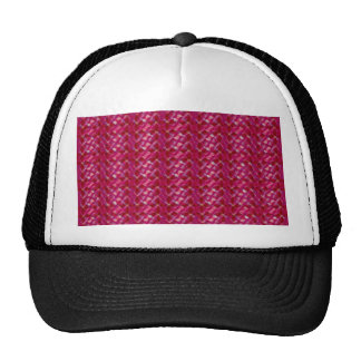 Cute Girly Pink Abstract Floral Print Trucker Hat
