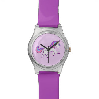 Cute Girly Pink, Blue, Purple Magical Unicorn Watch