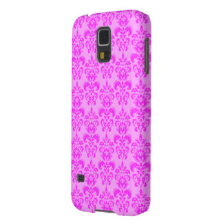 Cute Girly Pink Damask Cases For Galaxy S5