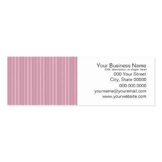 Cute Girly Pink Vertical Stripes Pattern Mini Business Card